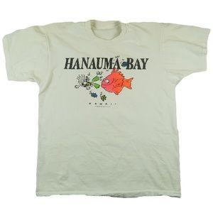 Vintage 1990 Hanauma Bay Hawaii Maui Bay T Shirt L